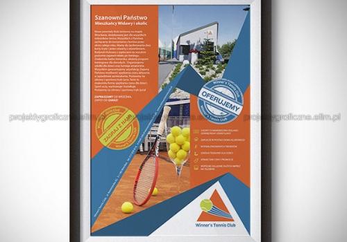 WINNER'S TENNIS CLUB – PLAKAT